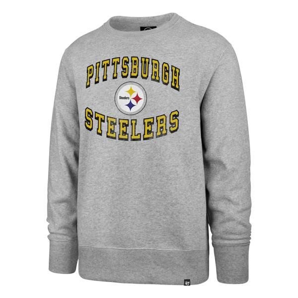 '47 Men's Pittsburgh Steelers Arch Heather Grey Sweatshirt product image