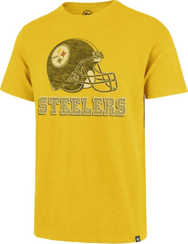 '47 Men's Pittsburgh Steelers Scrum Logo Gold T-Shirt product image