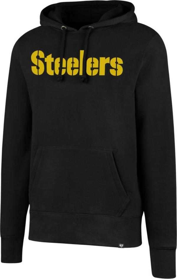 '47 Men's Pittsburgh Steelers Headline Wordmark Black Hoodie product image