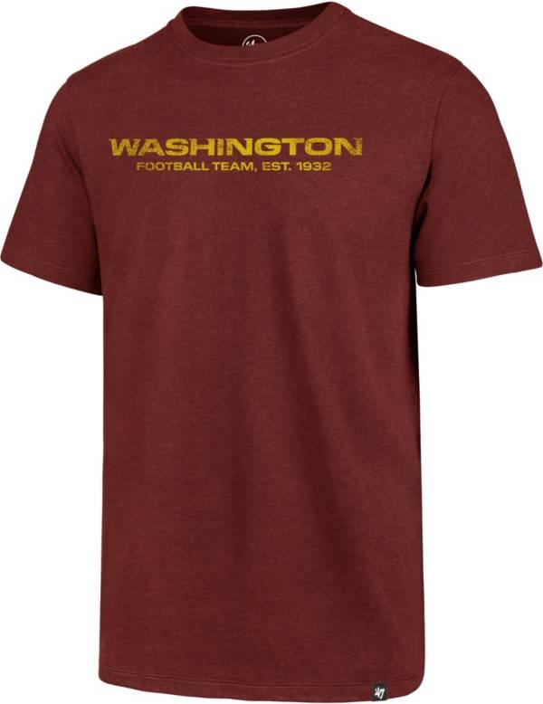 47 Men's Washington Football Team Club Wordmark Red T-Shirt product image