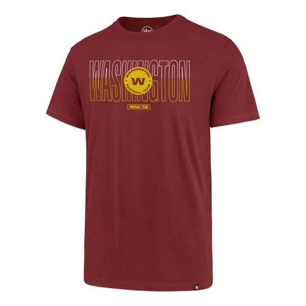 '47 Men's Washington Football Team Rival Wordmark Red T-Shirt product image