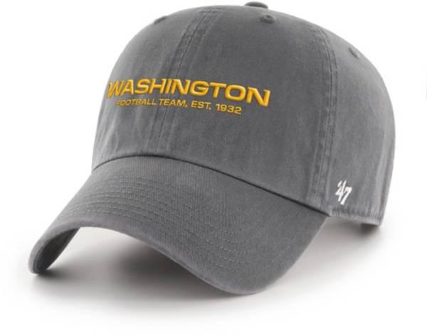 '47 Men's Washington Football Team Established 1932 Cleanup Charcoal Adjustable Hat product image