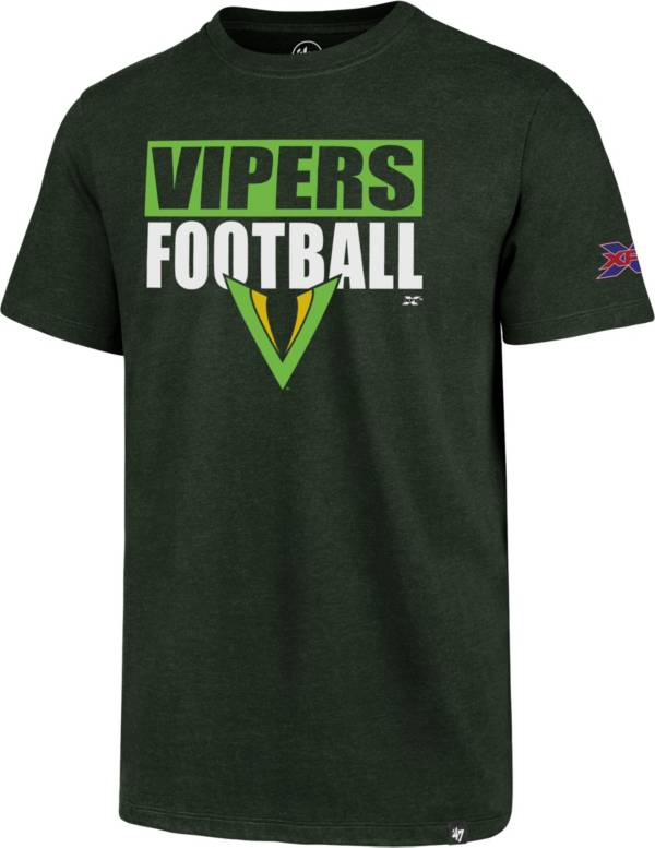 '47 Men's XFL Tampa Bay Vipers Club Block Green T-Shirt product image