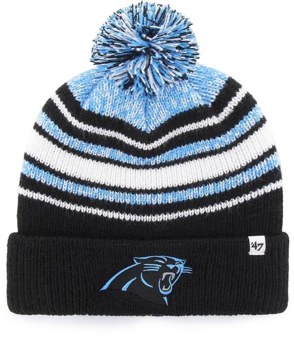 '47 Youth Carolina Panthers Bubbler Black Knit Hat product image