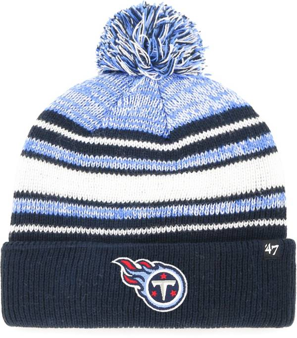 '47 Youth Tennessee Titans Bubbler Navy Knit Hat product image