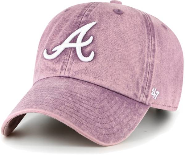 '47 Women's Atlanta Braves Purple Snow Cone Clean Up Adjustable Hat product image