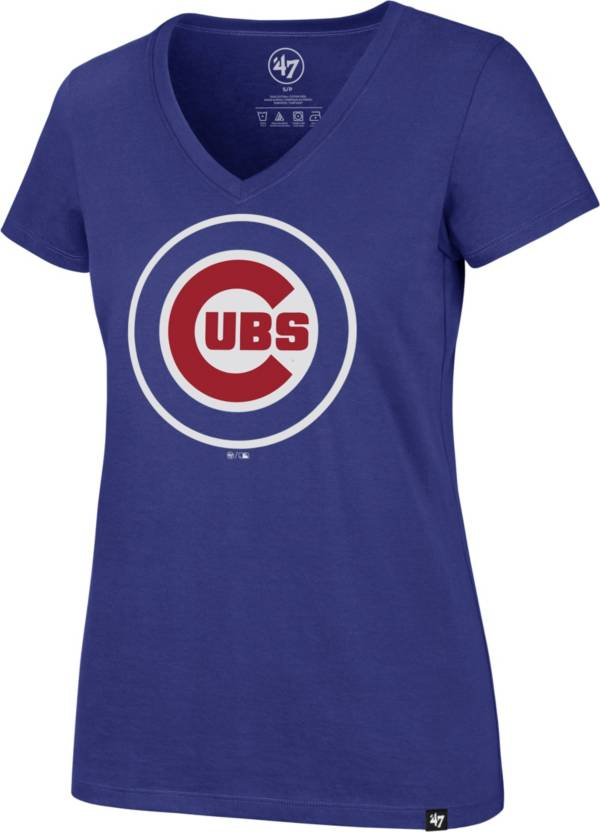 '47 Women's Chicago Cubs Royal Ultra Rival V-Neck T-Shirt product image