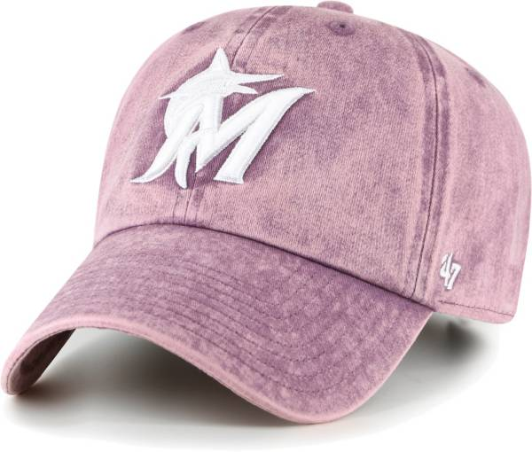 '47 Women's Miami Marlins Purple Snow Cone Clean Up Adjustable Hat product image