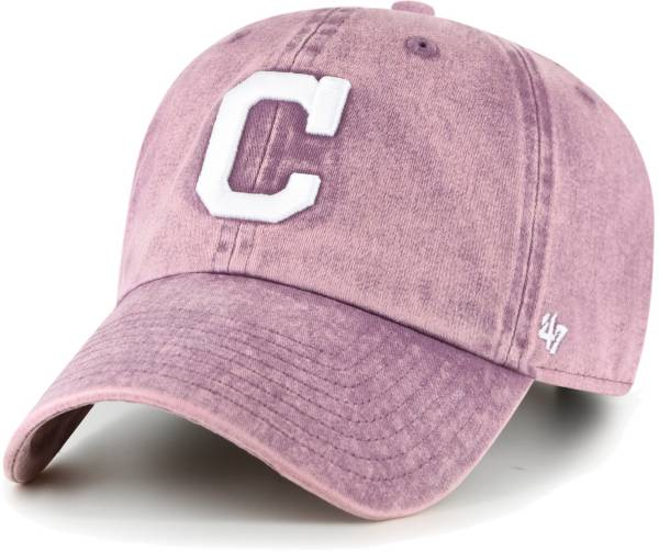 '47 Women's Cleveland Indians Purple Snow Cone Clean Up Adjustable Hat product image