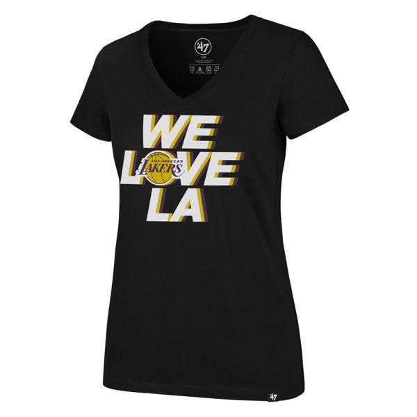 '47 Women's  Los Angeles Lakers We Love LA  Black T-Shirt product image