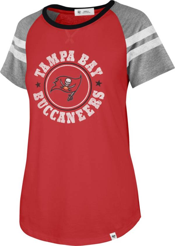 '47 Women's Tampa Bay Buccaneers Static Red Raglan T-Shirt product image