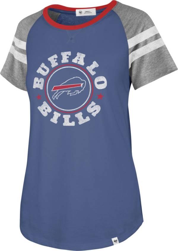 '47 Women's Buffalo Bills Static Black Raglan T-Shirt product image