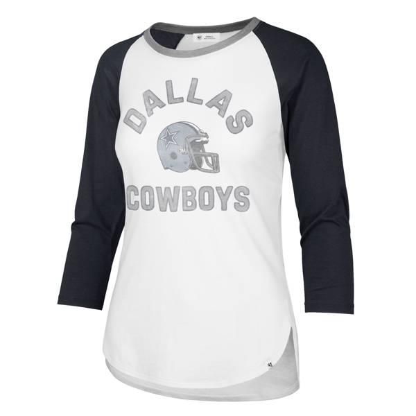 '47 Women's Dallas Cowboys Frankie White Three-Quarter Sleeve T-Shirt product image