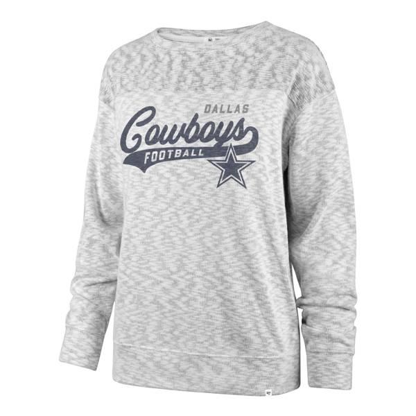 '47 Women's Dallas Cowboys Script White Out White Long Sleeve T-Shirt product image