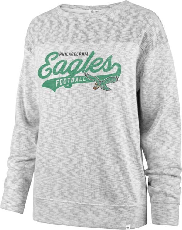 '47 Women's Philadelphia Eagles Script Legacy Whiteout Crew Sweatshirt product image