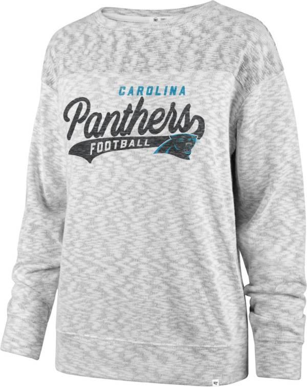 '47 Women's Carolina Panthers Script Legacy Whiteout Crew Sweatshirt product image