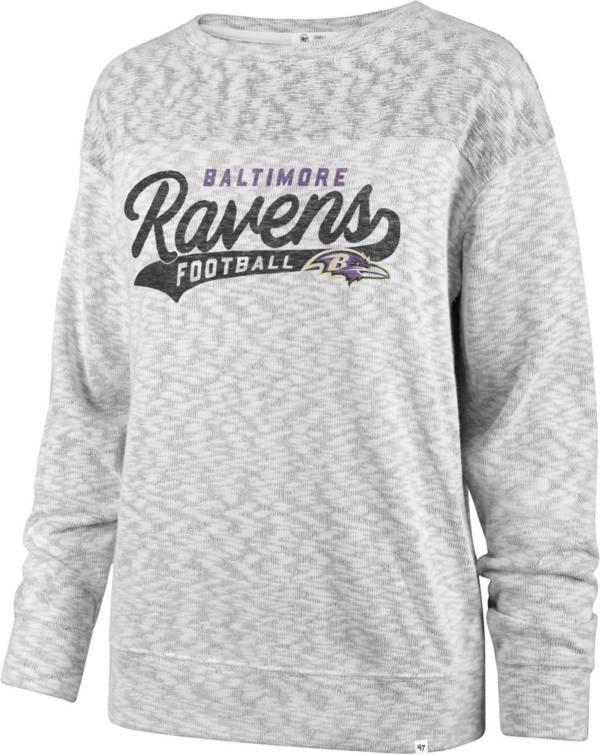 '47 Women's Baltimore Ravens Script Legacy Whiteout Crew Sweatshirt product image