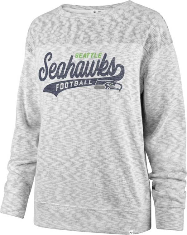'47 Women's Seattle Seahawks Script Legacy Whiteout Crew Sweatshirt product image