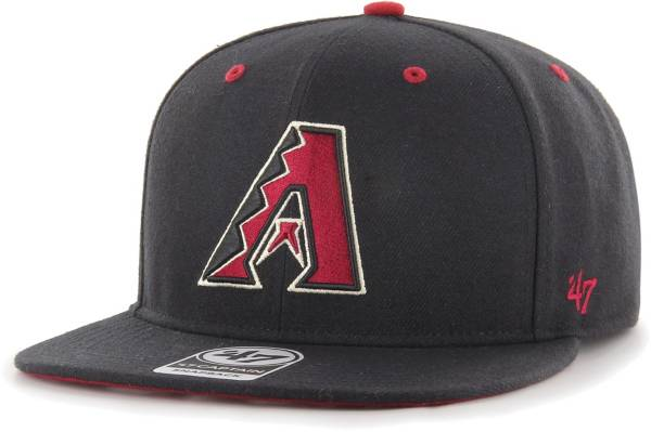'47 Youth Boys' Arizona Diamondbacks Black Vow Captain Adjustable Snapback Hat product image