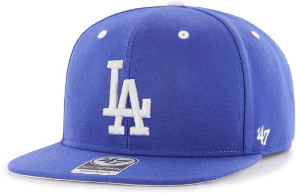 '47 Youth Boys' Los Angeles Dodgers Royal Vow Captain Adjustable Snapback Hat product image