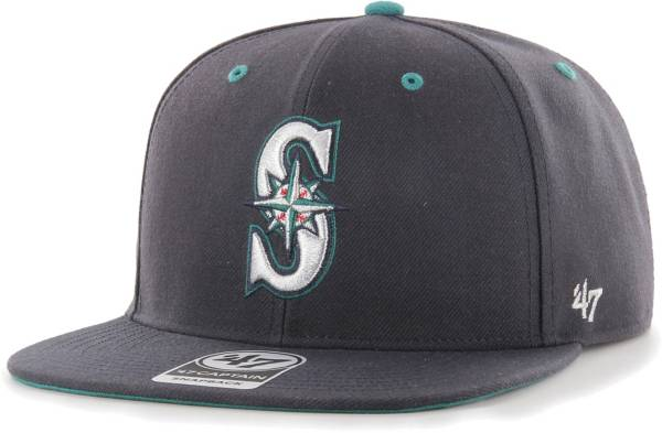 '47 Youth Boys' Seattle Mariners Navy Vow Captain Adjustable Snapback Hat product image