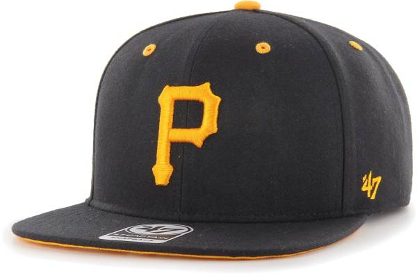 '47 Youth Boys' Pittsburgh Pirates Black Vow Captain Adjustable Snapback Hat product image