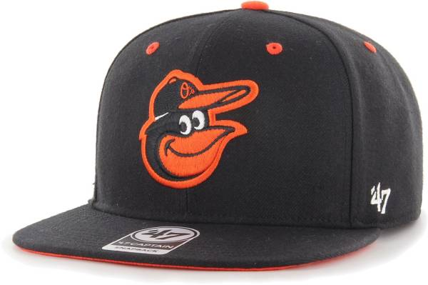 '47 Youth Boys' Baltimore Orioles Black Vow Captain Adjustable Snapback Hat product image