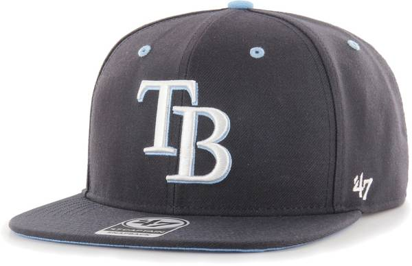 '47 Youth Boys' Tampa Bay Rays Navy Vow Captain Adjustable Snapback Hat product image