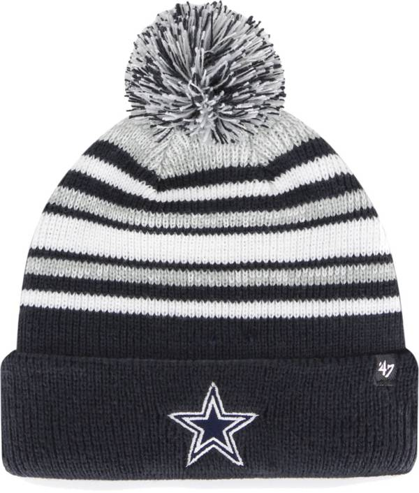 '47 Youth Dallas Cowboys Navy Bubbler Cuffed Knit Beanie product image