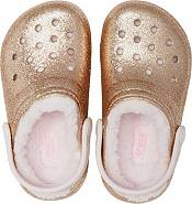 Crocs Kids' Classic Glitter Lined Clogs product image