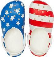 Crocs Kids' Classic American Flag Clogs product image