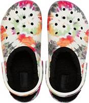 Crocs Adult Classic Fuzz-Lined Tie Dye Clogs product image