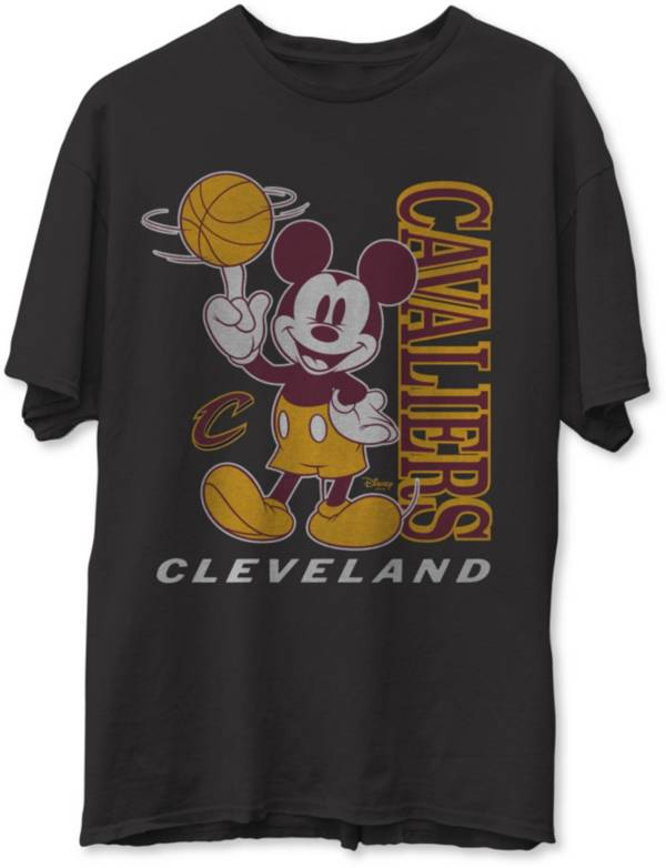 Junk Food Men's Cleveland Cavaliers Disney Vintage Mickey Baller Black T-Shirt product image