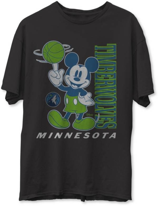 Junk Food Men's Minnesota Timberwolves Disney Vintage Mickey Baller Black T-Shirt product image