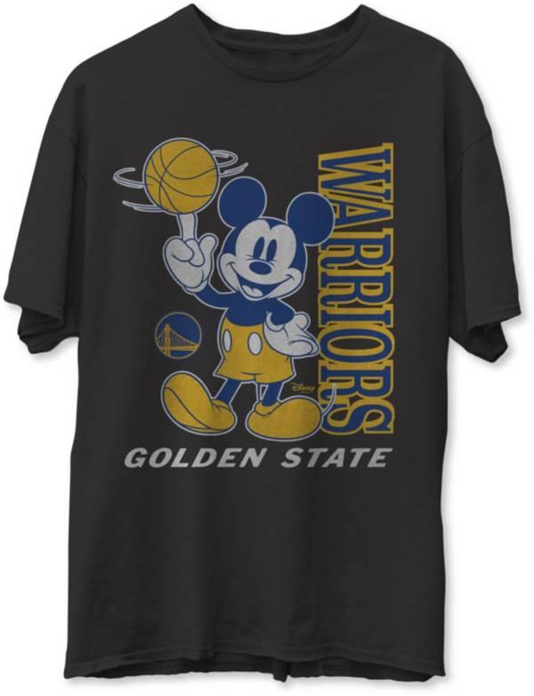 Junk Food Men's Golden State Warriors Disney Vintage Mickey Baller Black T-Shirt product image