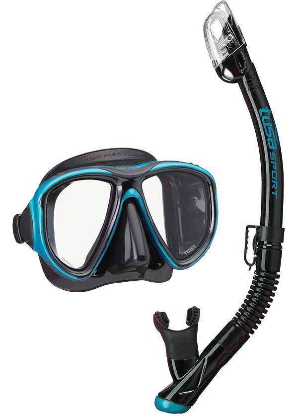 TUSA Sport Adult PowerView Dry Snorkeling Combo with Reusable Bag product image