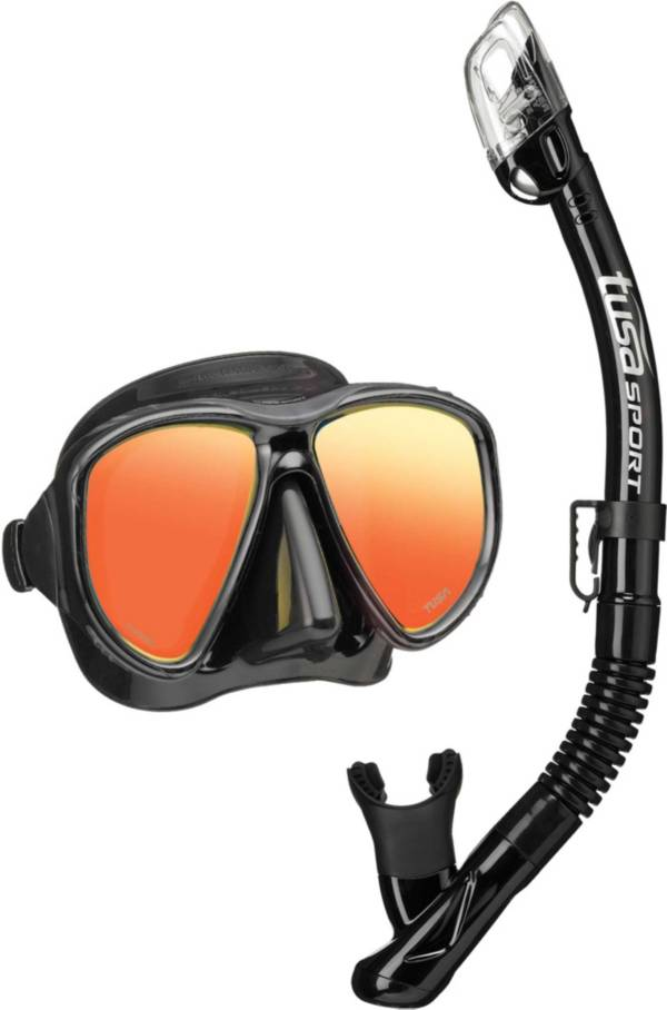 TUSA Sport Adult Powerview Dry Snorkeling Combo Set with Reusable Bag product image