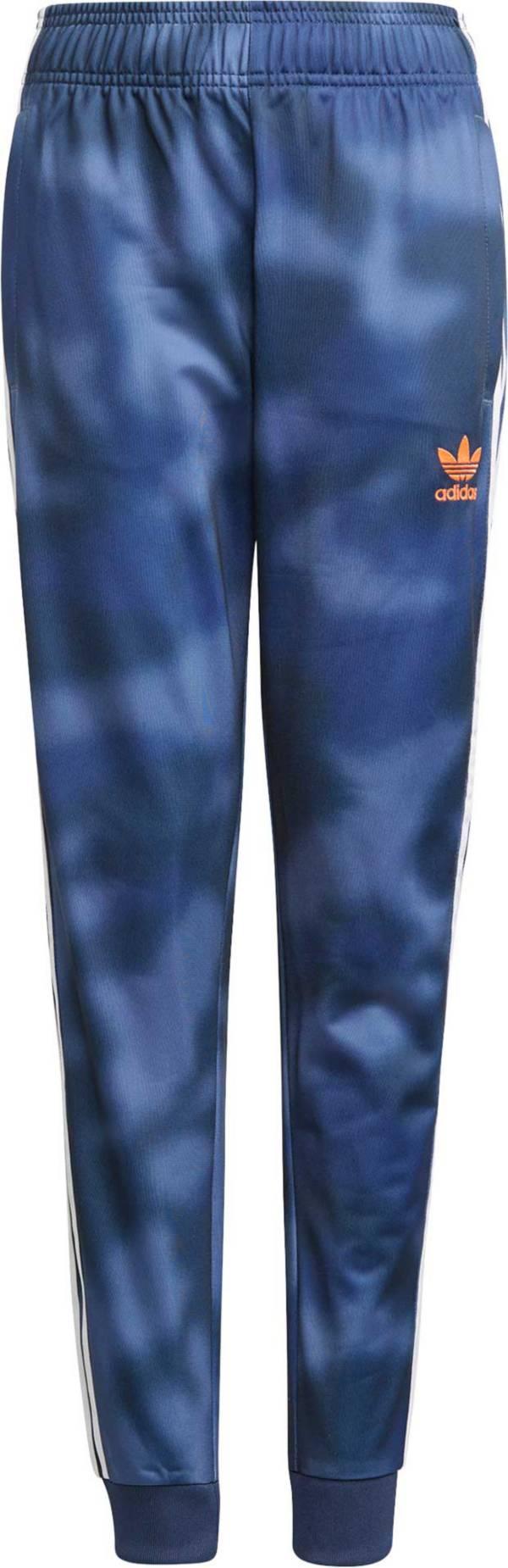 adidas Boys' All Over Print Camo Superstar Pants product image