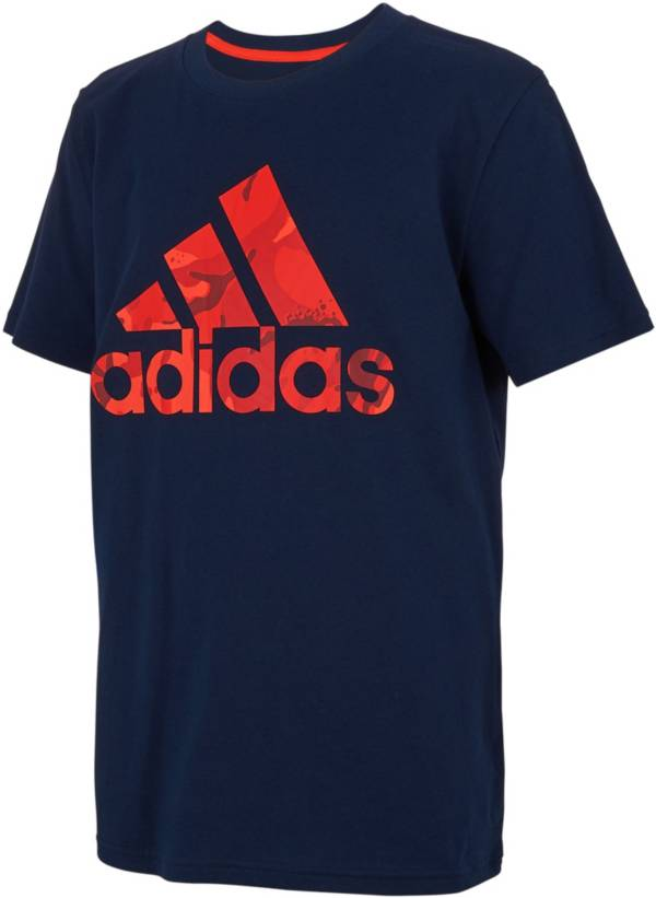 adidas Boys' Classic Camo Filled Badge Of Sport Graphic T-Shirt product image