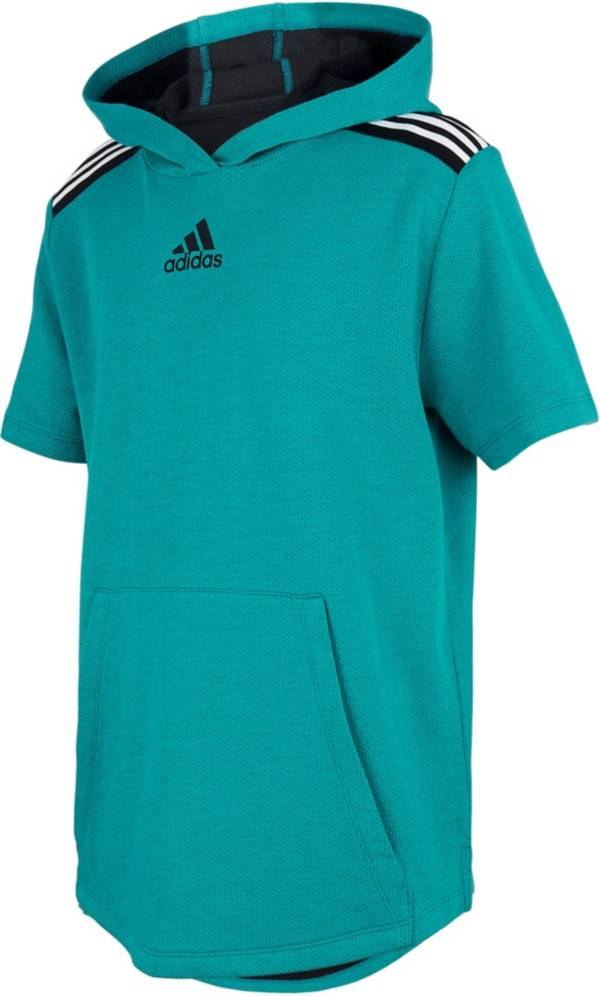 adidas Boys' 3-Stripe Short Sleeve Hoodie product image