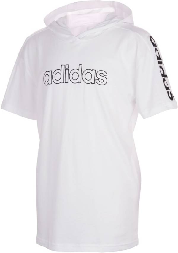 adidas Boys' Core Hooded Short Sleeve T-Shirt product image