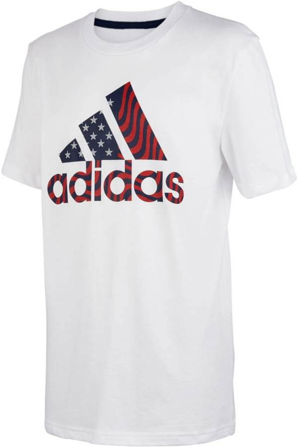 adidas Boys' USA Short Sleeve T-Shirt product image