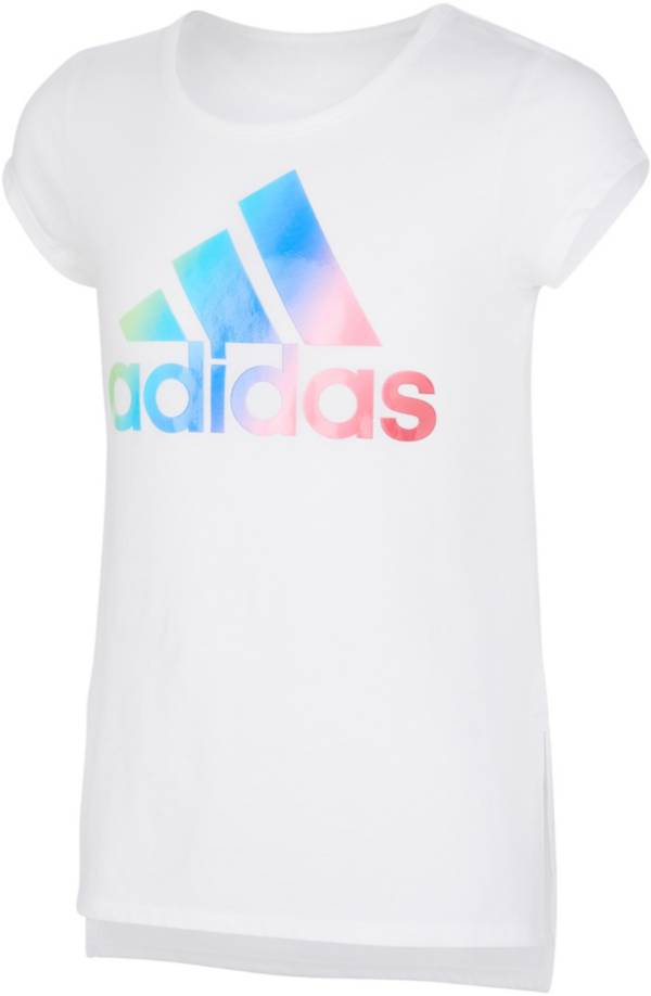 adidas Little Girls' Side Vent Ombre' Badge Of Sport Graphic T-Shirt product image