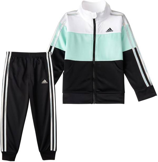 adidas Toddler Girls' Colorblock Tricot Jacket and Jogger Pants Set product image