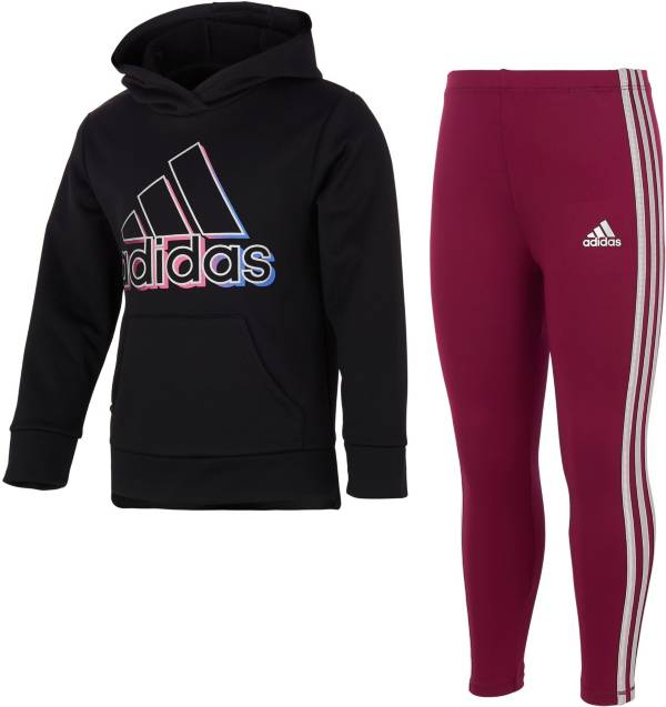 adidas Girls' Fleece Pullover and Tights Set product image