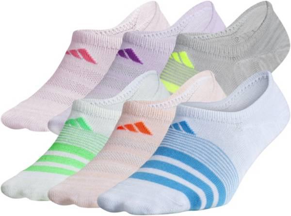 adidas Girls' Superlite Super No Show Socks 6 Pack product image