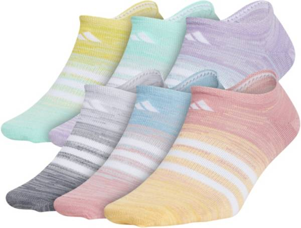 adidas Girls' Superlite Space Dye No Show Socks – 6 Pack product image