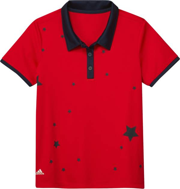 adidas Girls' Graphic Print Golf Polo product image