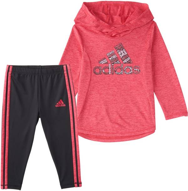 adidas Little Girls' Melange Top and Tights Set product image