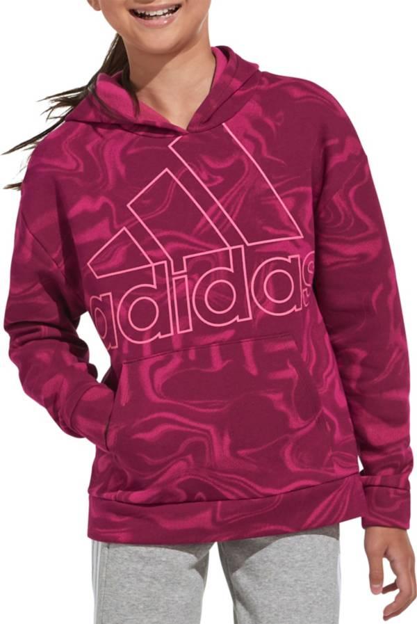 adidas Girls' Marble Print Hoodie product image